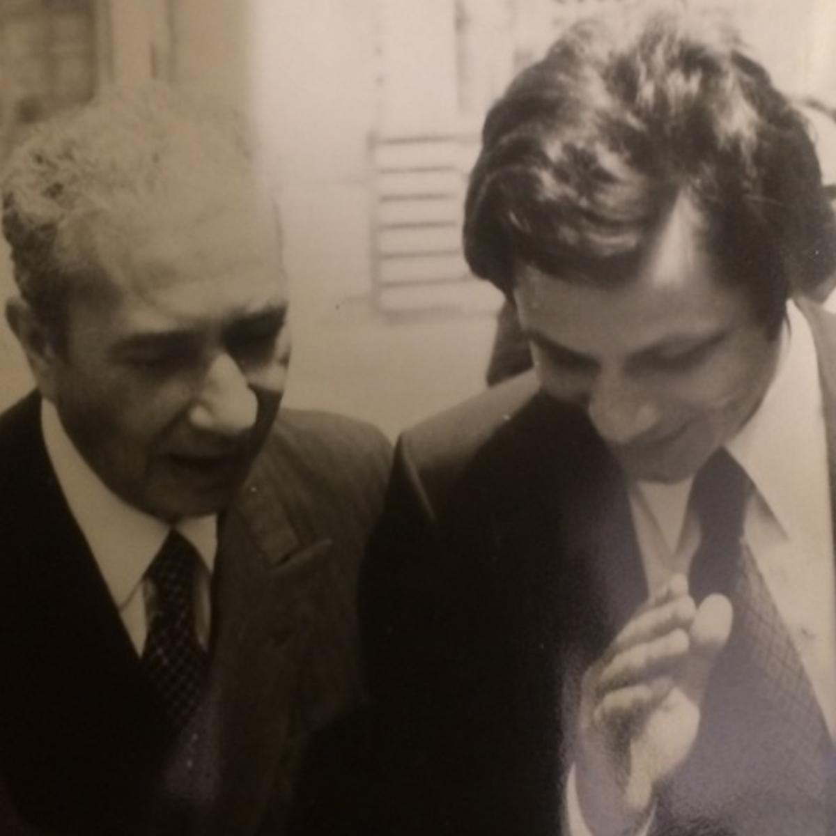 Valter Mainetti con Aldo Moro a Bari nel 1976